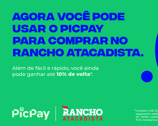Pague as compras com PicPay no Rancho Atacadista