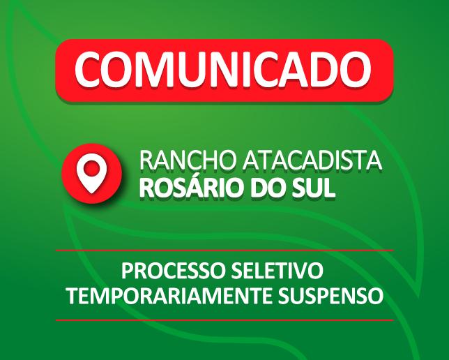 Processo Seletivo temporariamente suspenso em Rosário do Sul
