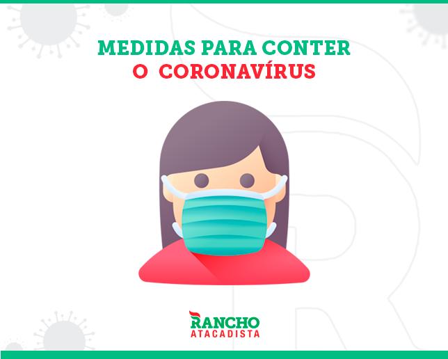 MEDIDAS PARA CONTER O CORONAVÍRUS