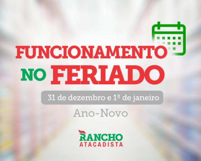 Funcionamento dos supermercados no Ano-Novo – 31 de dezembro e 1º de janeiro