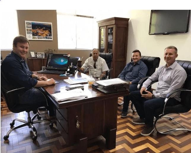 Diretores do Grupo Libraga Brandão visitam prefeito de Venâncio Aires